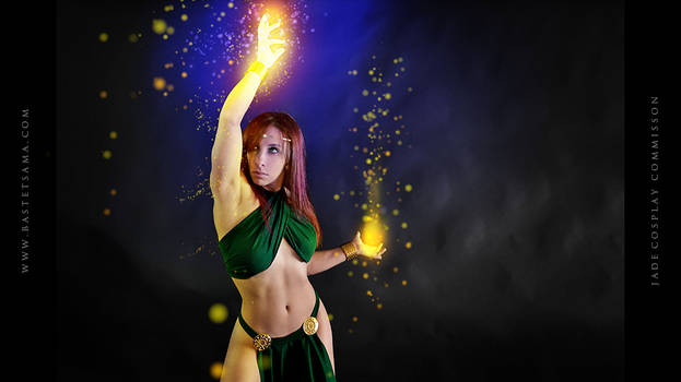 Jade Wizard Cosplay Commission 01