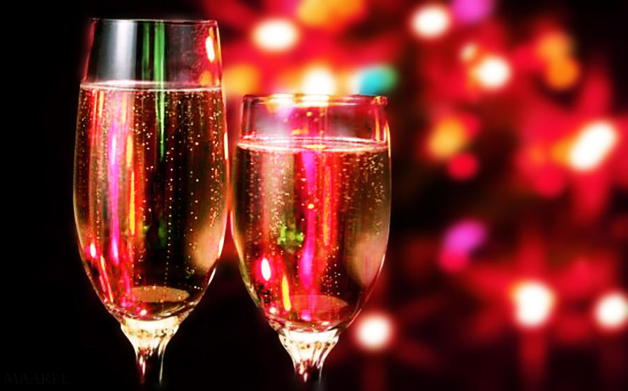 Christmas Champagne Wallpaper by Maarel