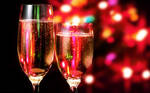 Christmas Champagne Wallpaper
