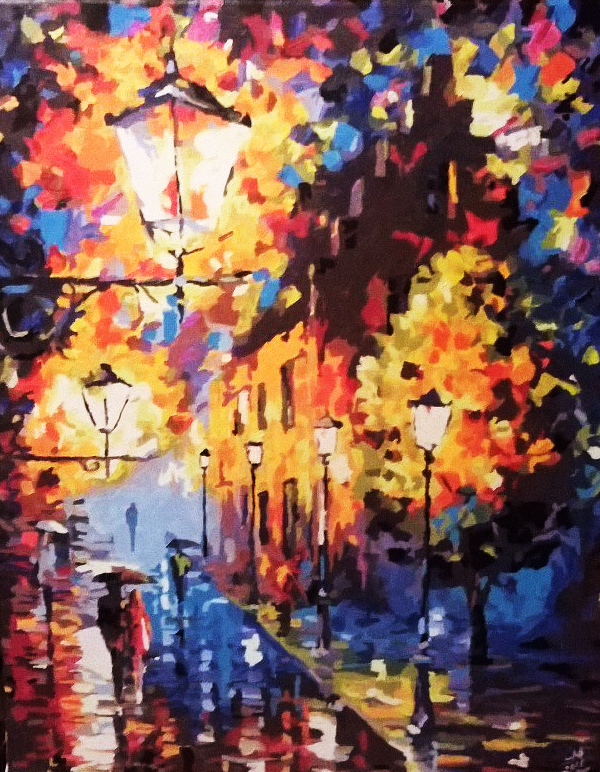 Reproduction of Afremov's painting by Maarel