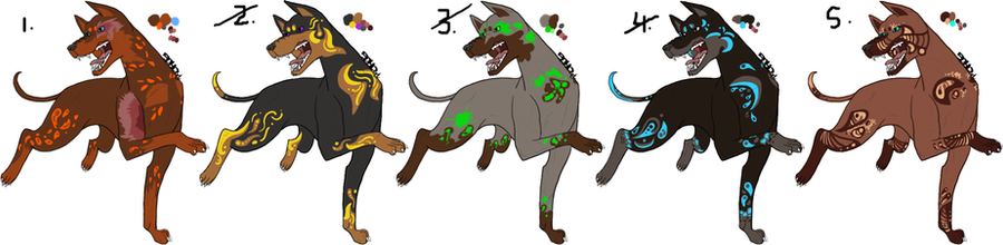 Doberman Adoptables [Open 2/5 left] by Squidoptables