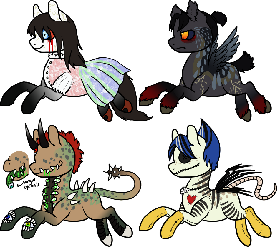 MLP Halloween Auction 2 [CLOSED] by Squidoptables on DeviantArt