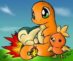 Fire Starter Pokemon Color