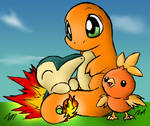 Fire Starter Pokemon Color