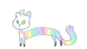 Rainbow Long Cat CLOSED