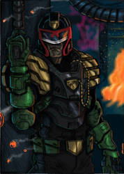 Judge Dredd by JohnOsborne
