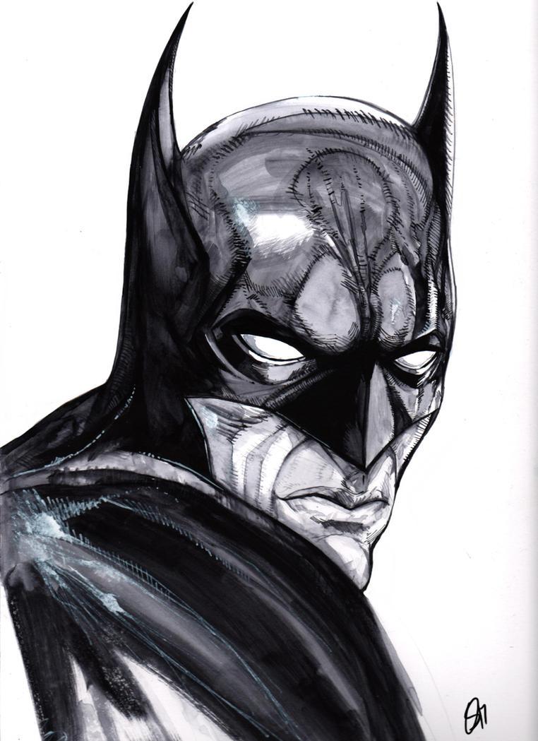 Batman Water Color by JohnOsborne