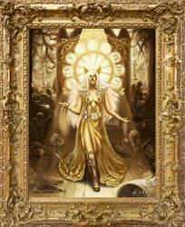 Lady Death : Lady of time (golden frame) by KarolinaKabata