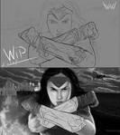 WIP # 5 Wonder Woman by KarolinaKabata