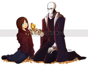 COMMISSION - Hope and XGaster