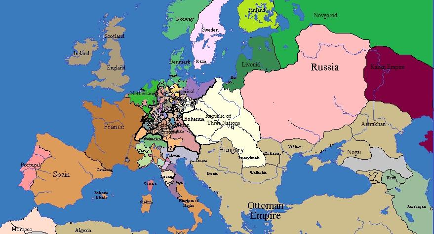 lithuanian russia europe 1660 by randaglar
