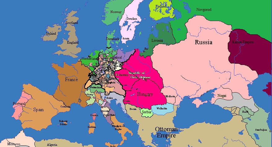 Lithuanian Russia Europe 1720 by