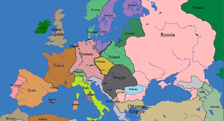 lithuanian russia europe 1840 by randaglar