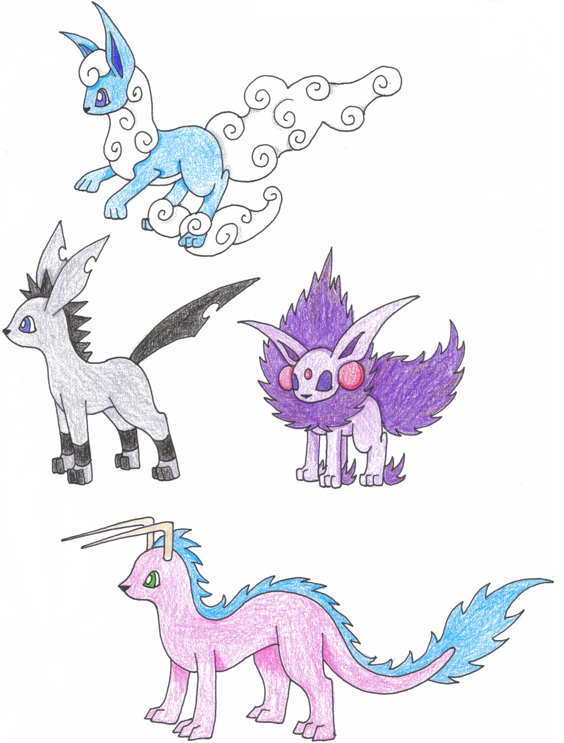 pokemon fake eevee evolutions coloring pages images pokemon images