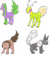Fake Eevee Evolutions 2 by Jenicole
