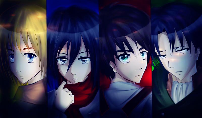 Armin Mikasa Eren Levi by Xogichan on DeviantArt