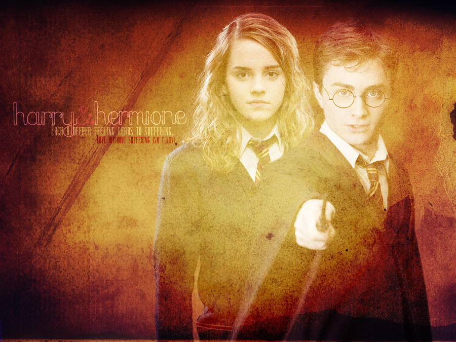 Hermione and Harry by Lennves
