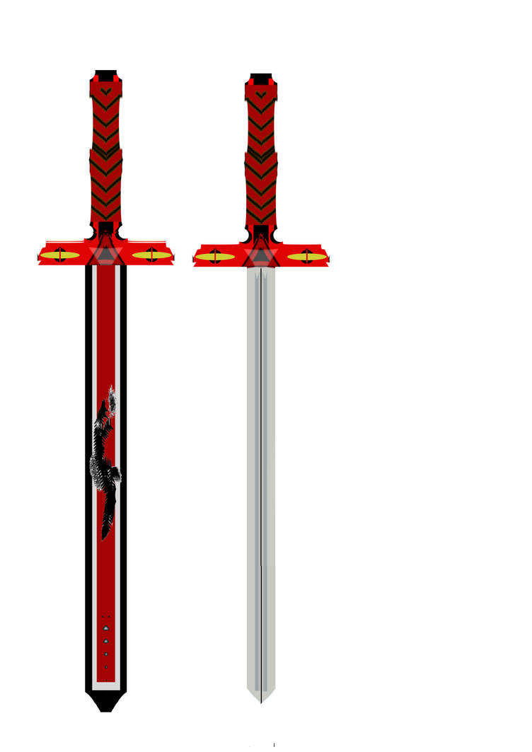 Red Hilt Sword Legend of Zelda OC Knight by Neb-Storm on