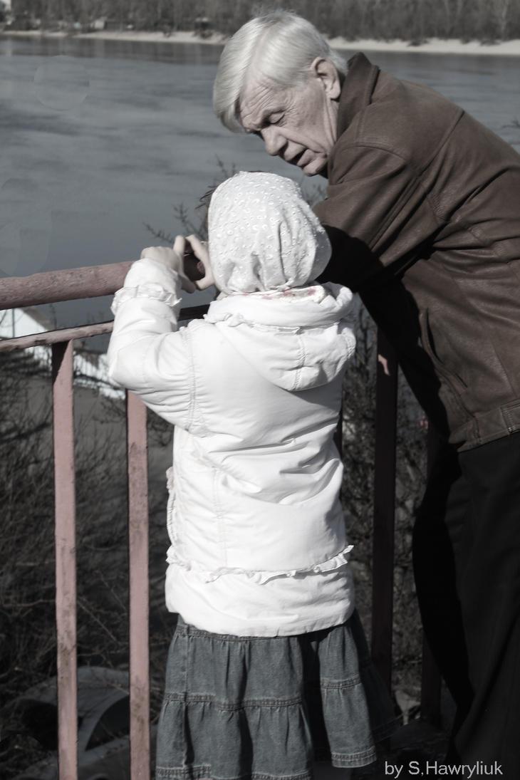 Jer kad ostaris... Man_and_child_by_redheaddbeast-d3df045