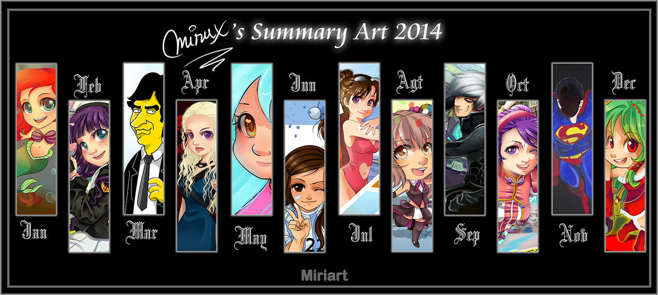 2014 Summary Of Art by MiriArt