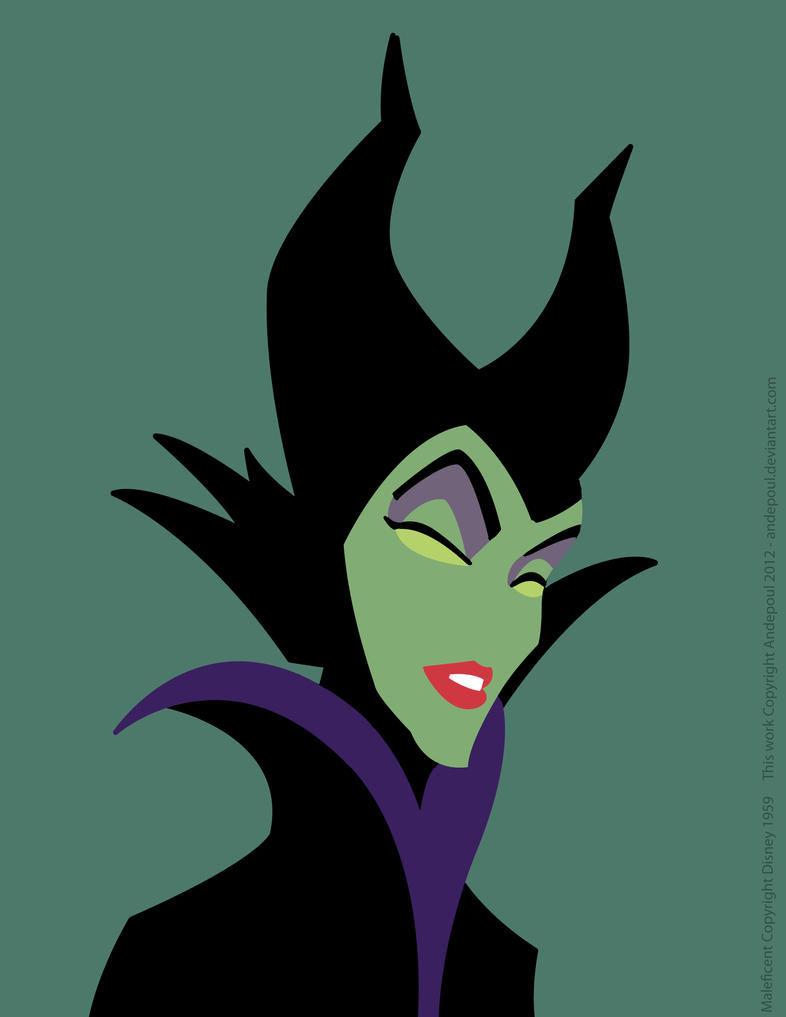 Minimalist Study #1: Maleficent by andepoul on DeviantArt