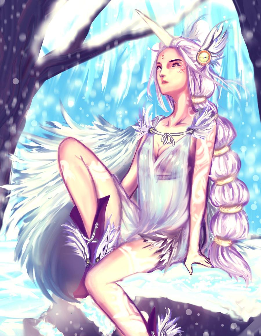 League of Legends: Winter Wish Soraka by zunifuun