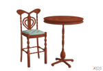 Bar stool and table by LuxXeon