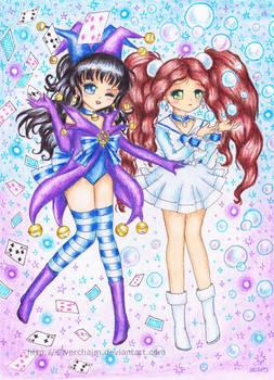 C: Sailor Bromista and Sailor Awa
