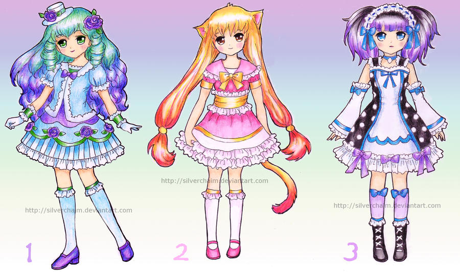 Loli adoptables (closed) by SilverChaim