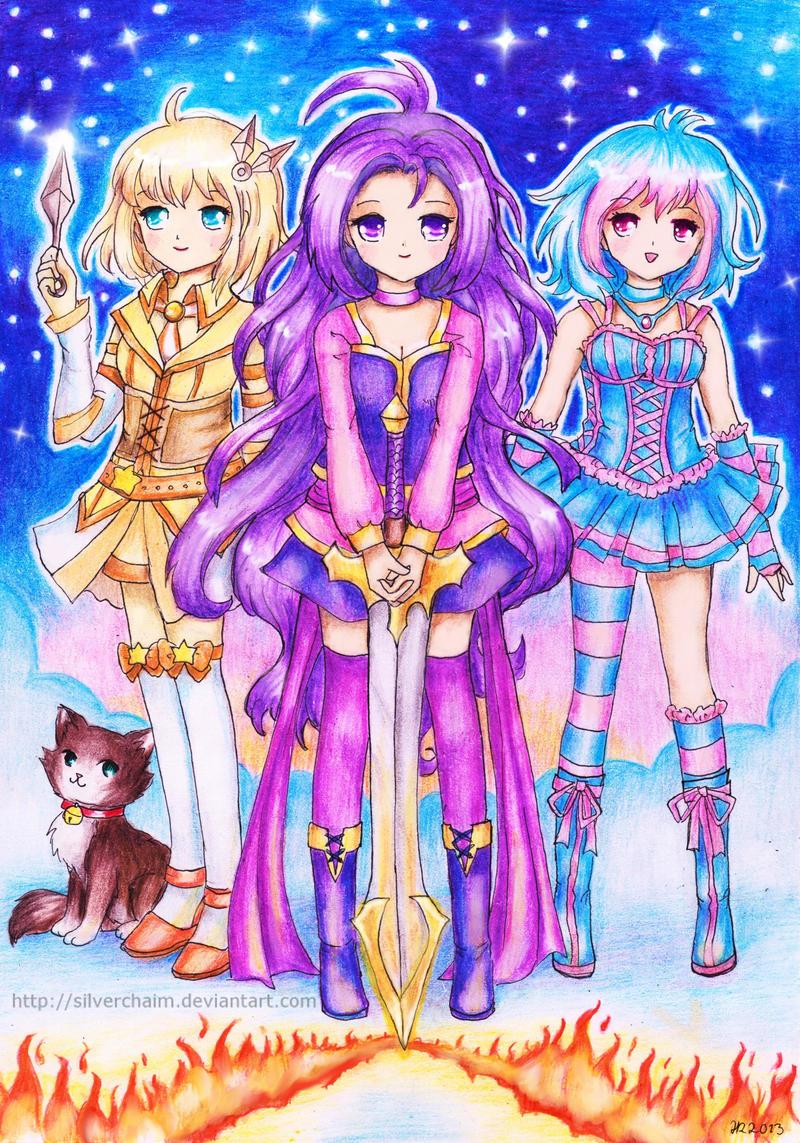 Seiori, Sezou and Elaine by SilverChaim