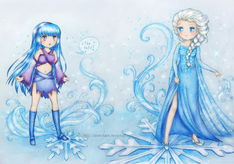 C: Athena and Elsa by SilverChaim