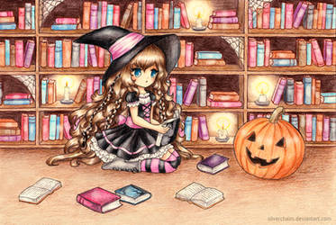 C: Halloween Library by SilverChaim