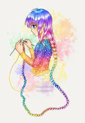Knitting Girl by SilverChaim