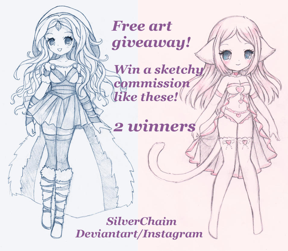 Giveaway Sketchy Character by SilverChaim