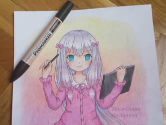 Sagiri Izumi WIP by SilverChaim
