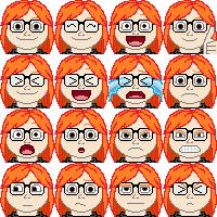 Me emoticons by MaidenOfTheBlade