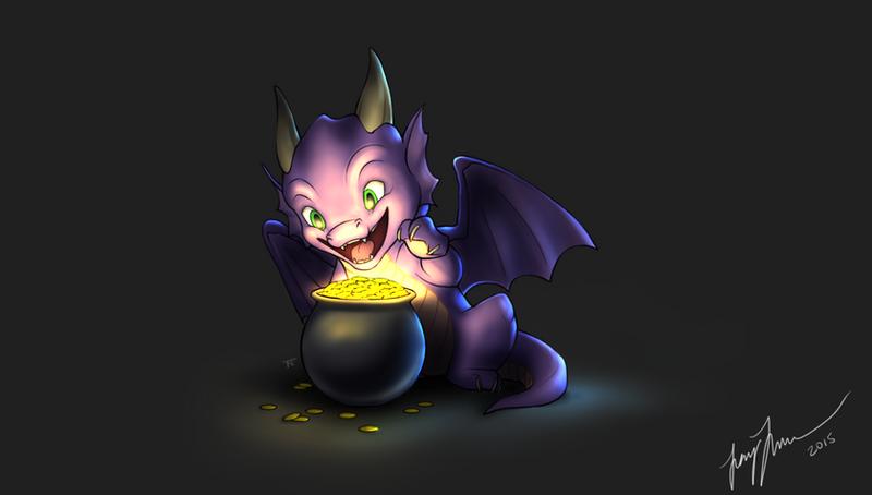 Baby Dragon by MaidenOfTheBlade