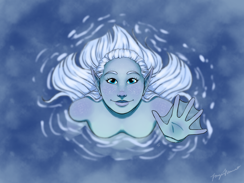 Water Nymph by MaidenOfTheBlade