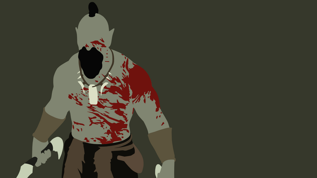 Minimalist  Skyrim Orc Warrior By Ceelker On DeviantArt