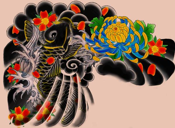 Japanese tattoo design by perpetuum mobile on deviantart for Mobile tattoo artist