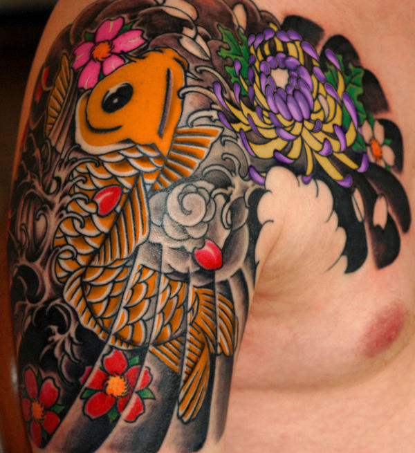Japanese tattoo in progressii by perpetuum mobile on for Mobile tattoo artist