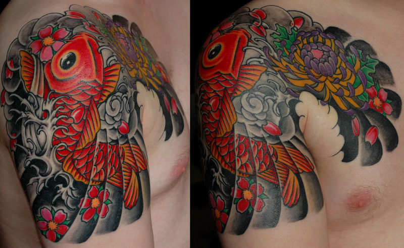 Japanese tattoo fishy by perpetuum mobile on deviantart for Japanese tattoo art