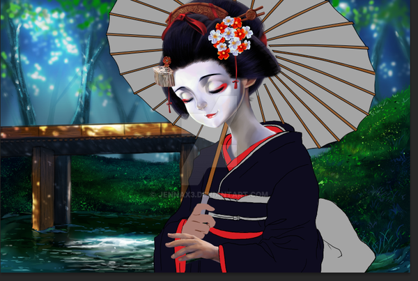 geisha wip by Jennax3