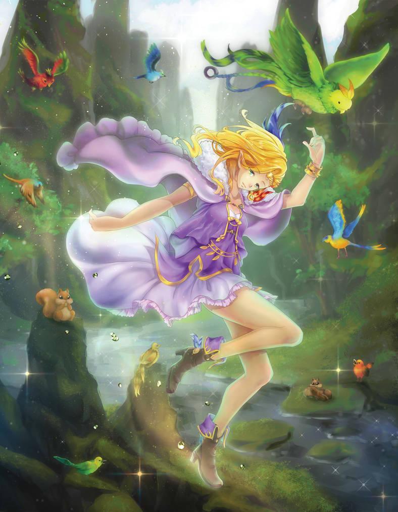 Magic and Wizards Zine - Mystical Fairy Elfuria by Jennax3
