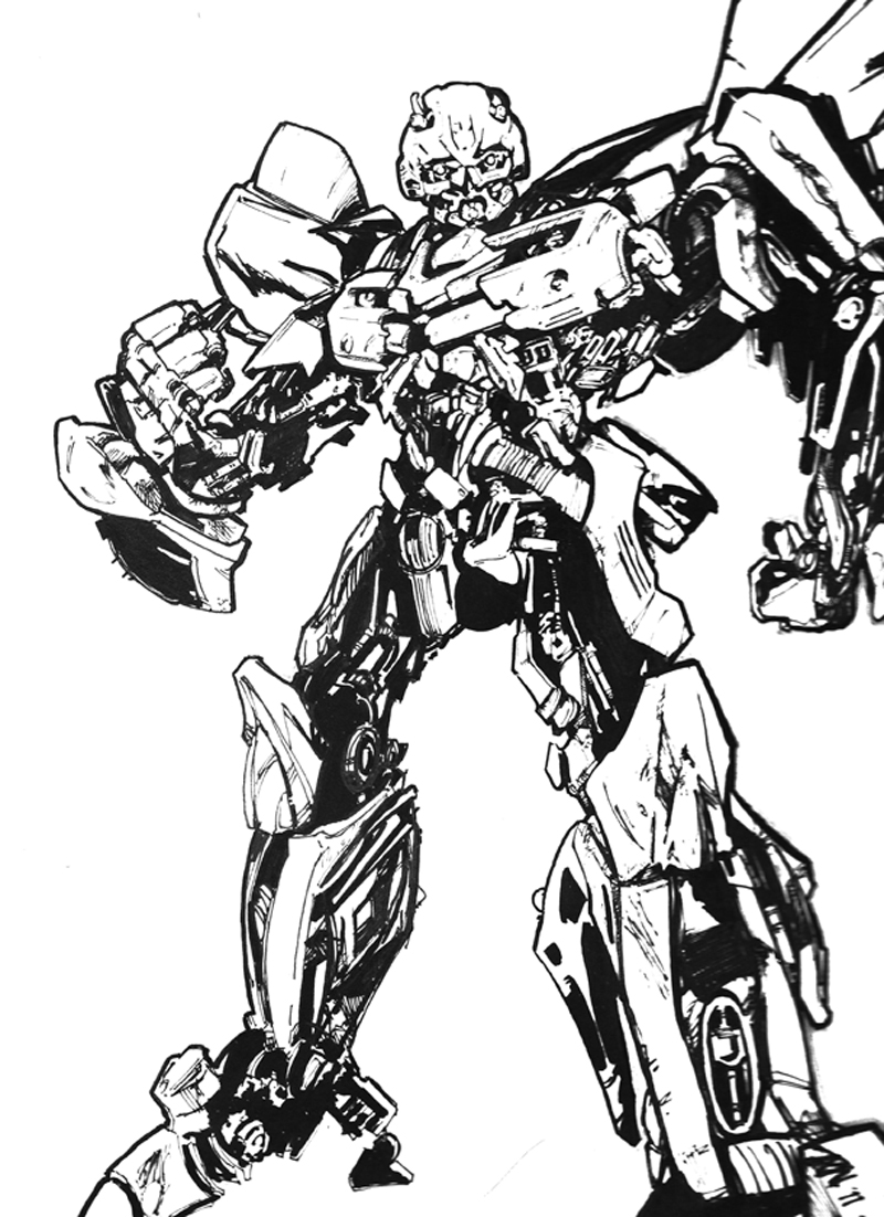 Bumblebee Transformer Coloring Page 28 Images