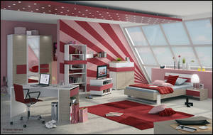 3D Teen Bedroom 3 by FEG