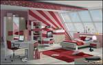 3D Teen Bedroom 3
