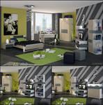 3D Teen Bedroom 2