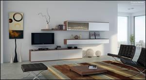 3D TV Room Set - 02