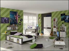 3D Bedroom 9 - v2 by FEG